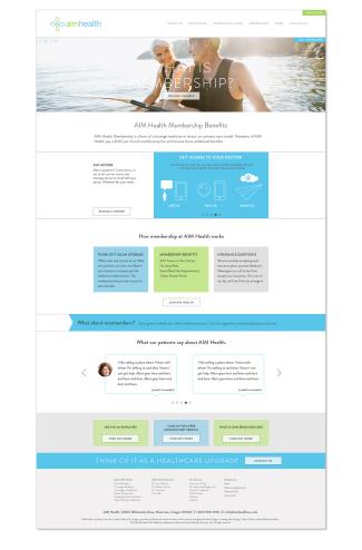 AIM Health Webpage